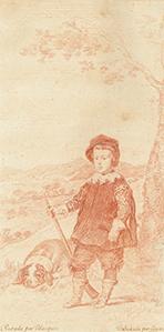 Francisco de Goya. El Principe Baltasar Carlos como cazador. 1778-1779.