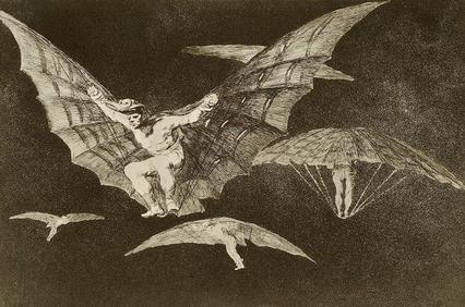 Francisco de Goya. Modo de volar. 1816-1817.