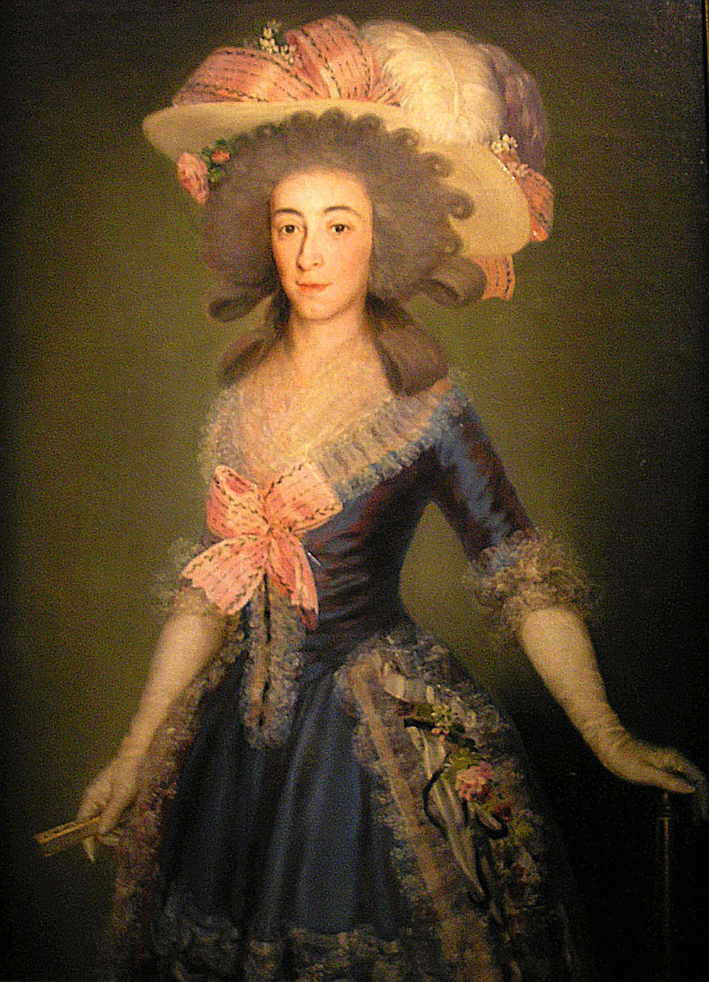 Francisco de Goya. María Josefa de la Soledad, duquesa de Osuna, o La condesa de Benavente. 1785. Colección particular.
