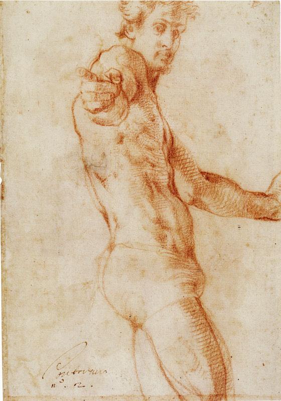 Jacopo Pontormo. Autorretrato. 1522-1525. British Museum. Londres.