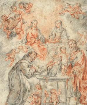 Juan Valdés Leal. Visión de San Antonio. 1655.