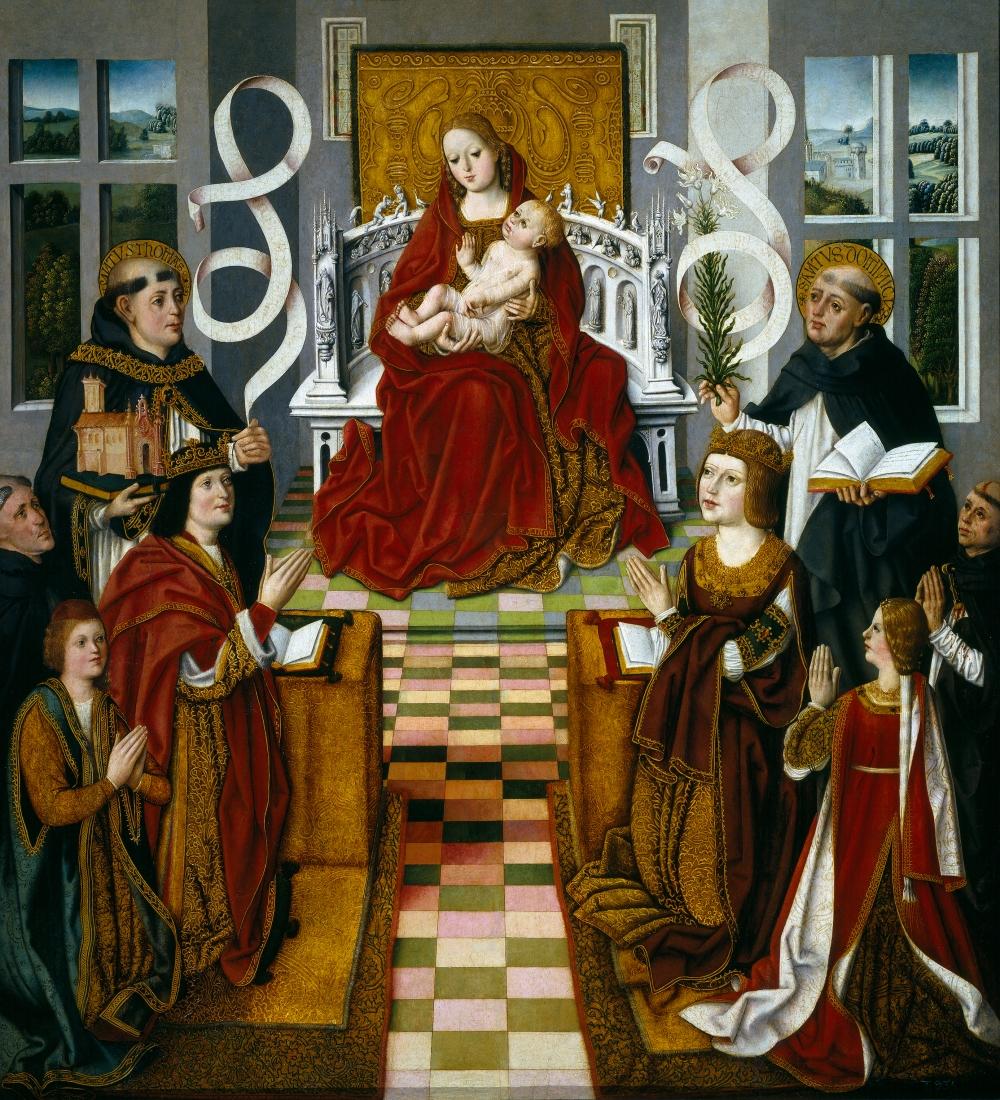 Maestro de la Virgen de los Reyes Católicos. La Virgen del los Reyes Católicos. Hacia 1491-1493. Museo del Prado.