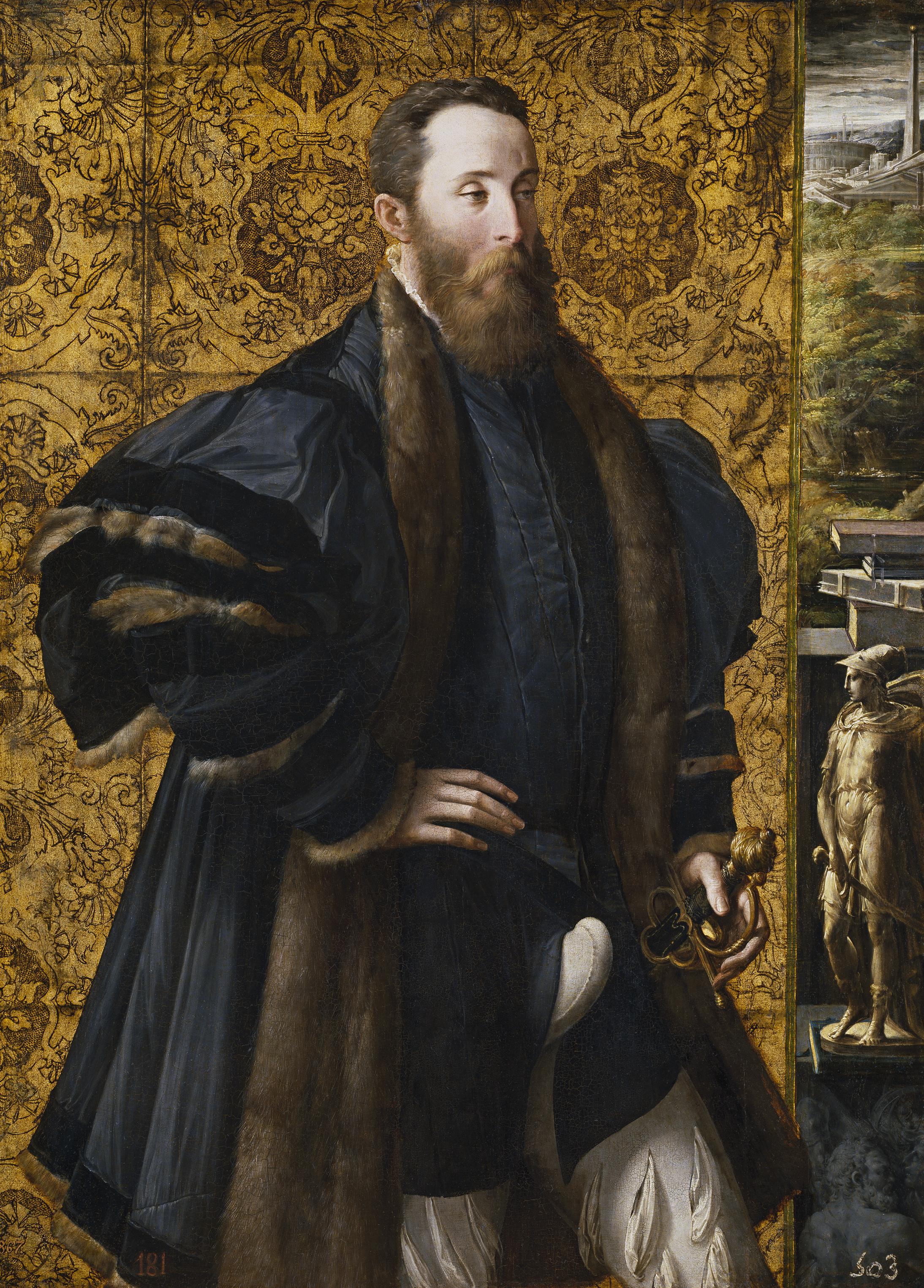 Parmigianino. Pedro María Rossi, conde de San Segundo. 1535-38. Museo