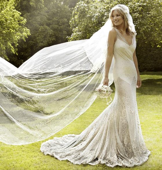 John Galliano. Vestido de novia de Kate Moss. 2011.