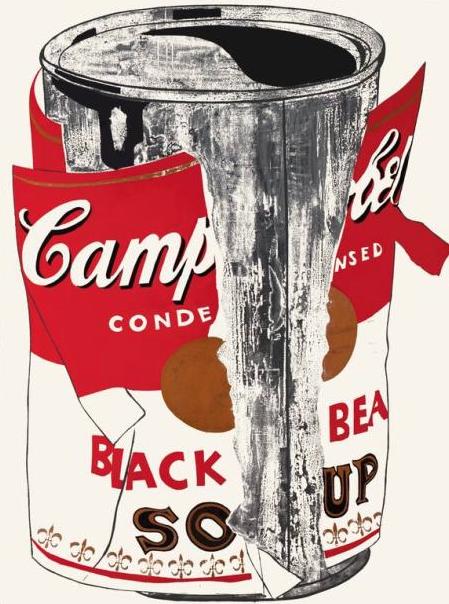 Andy Warhol. Lata grande de sopa Campbell´s rasgada. 1962. Kunstsammlung Nordrhein-Westfallen. Düsseldorf.