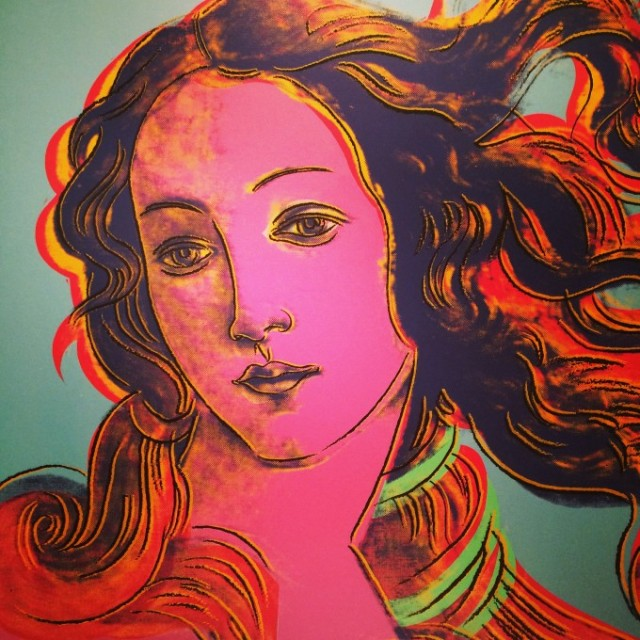 Andy Warhol. Nacimiento de Venus (Después de Botticelli).1984. The Andy Warhol Museum. Pittsburgh. Pennsylvania. EEUU.