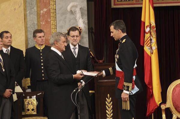 Felipe VI en el momento de la proclamación ante las Cortes generales.
