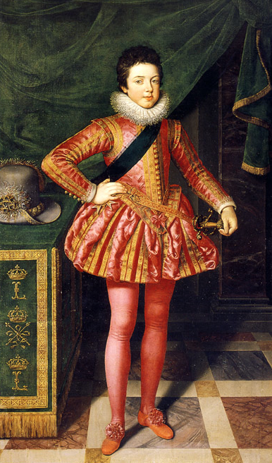 Frans Pourbus el Joven. Luis XIII. 1611. Galería Palatina. Palacio Pitti. Florencia.