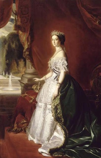 Franz Xaver Winterhalter. La emperatriz Eugenia de Montijo. 1853. Museo de Orsay. Paris.