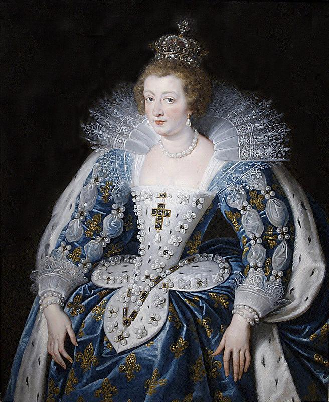 Peter Paul Rubens. Ana de Austria con el traje de su coronación. Hacia 1622-1625. Museo Norton Simon. Los Ángeles. Estados Unidos.