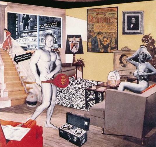 Richard Hamilton. ¿Que es lo que hizo los hogares de ayer tan distintos, tan atractivos? 1992. Colección Kunstmuseum Winterthur.