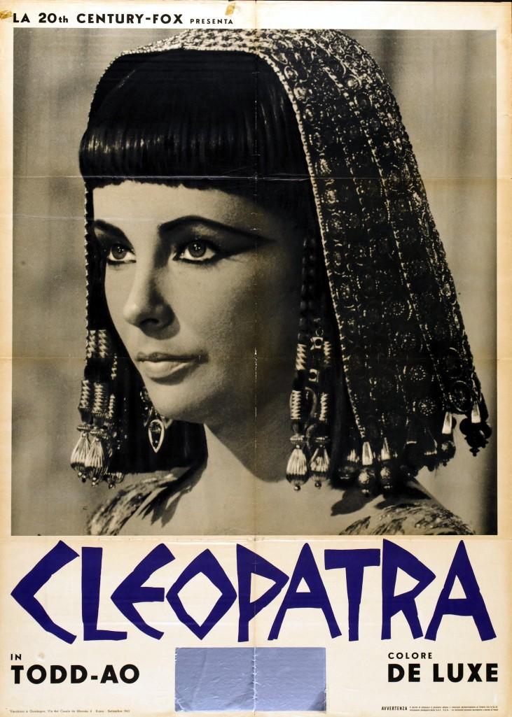 Cartel italiano de la película Cleopatra.