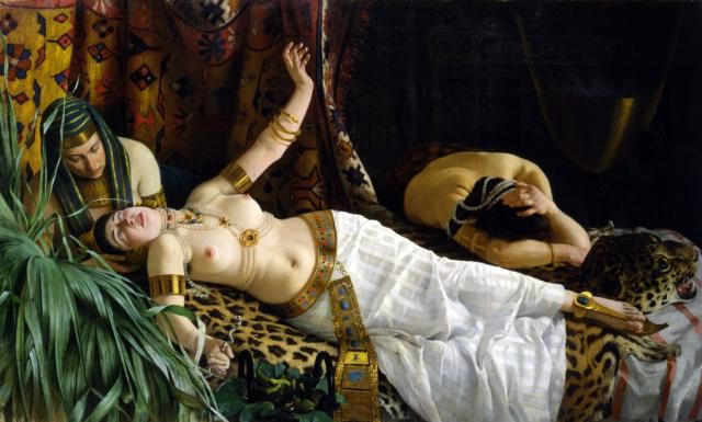 Imagen facilitada por el Museo della Città - Santa Giulia de %22La muerte de Cleopatra%22, cuadro del pintor italiano Achille Glisenti creado en 1878.