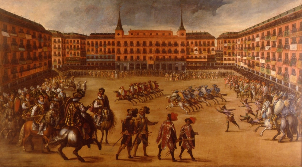 Juan de la Corte. Plaza_mayor de Madrid. Siglo XVII. Museo Municipal. Madrid.