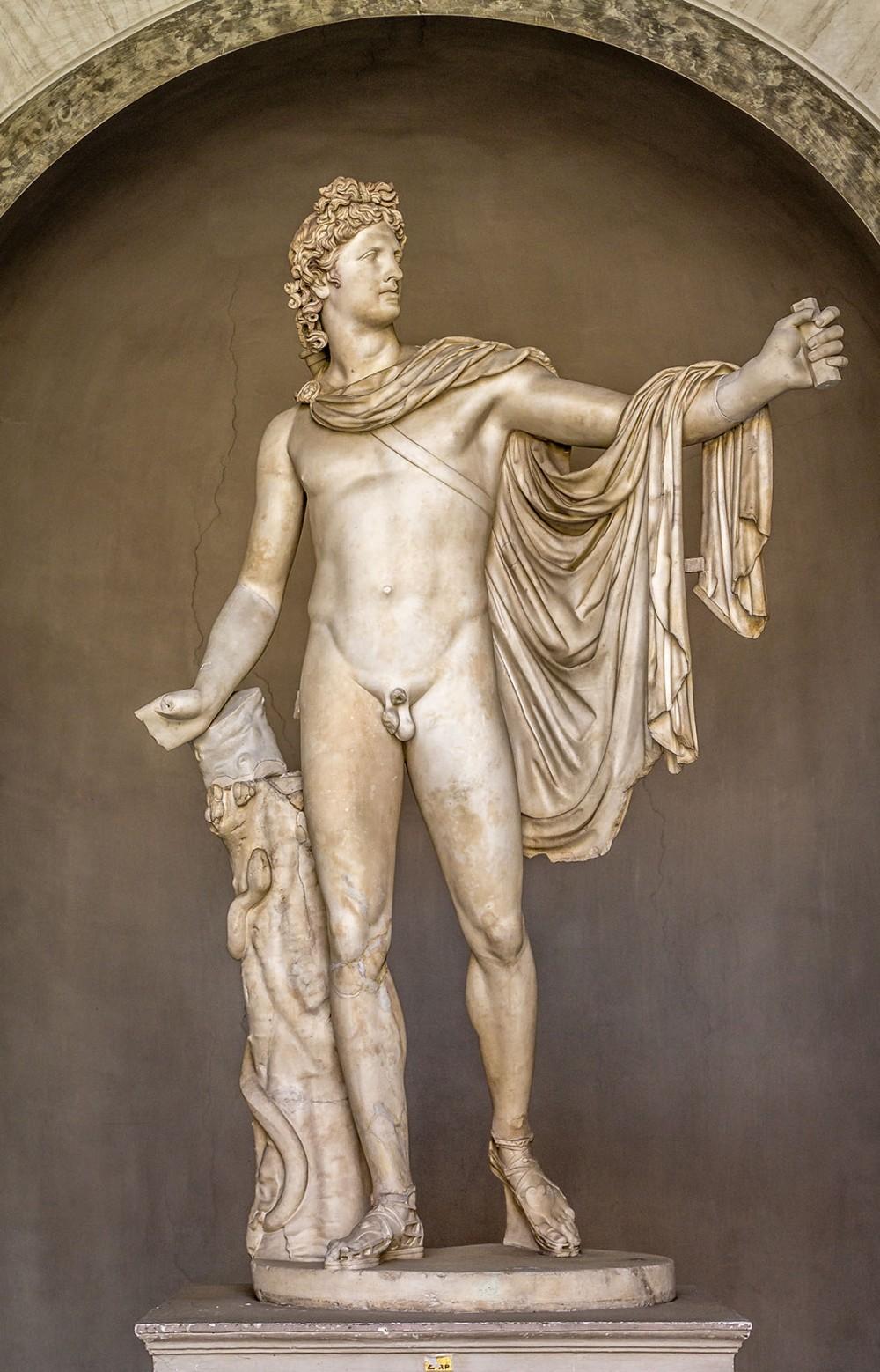 Leocares. Apolo del Belvedere. 350 a.C. Museos Vaticanos. Roma.