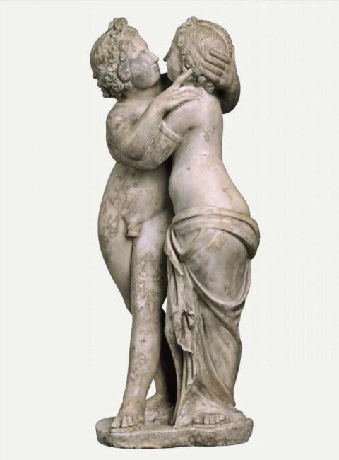 Eros y Psique. Segunda  mitad II d C. Staatliche Kunstsammlungen Dresden. Skulpturensammlung Staatliche Kunstsammlungen Dresden.