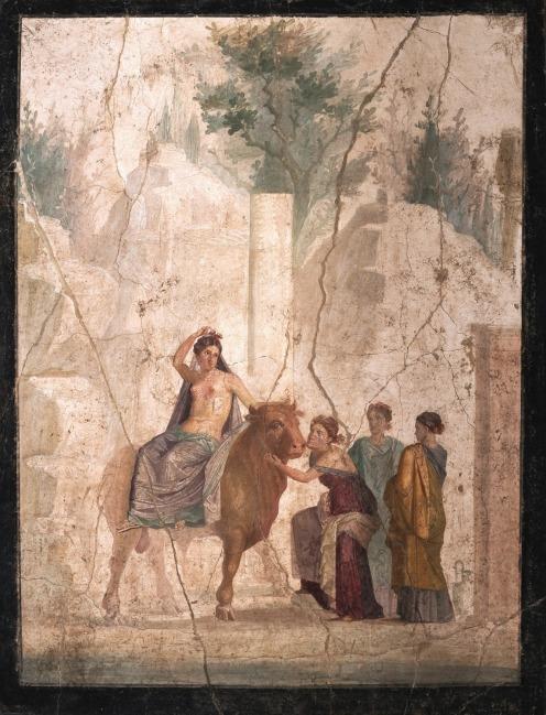 Europa y el toro. Pompeya. 25-45 d.C. Fresco. Museo Archeologico Nacional de Nápoles.