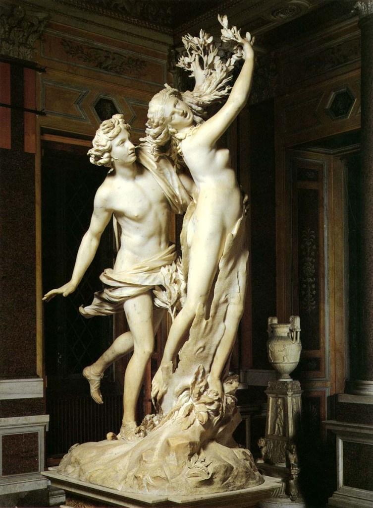 Gian Lorenzo Bernini. Apolo y Dafne. Museos capitolinos. Roma