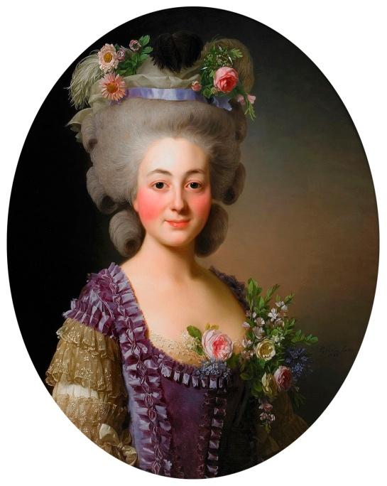 Alexander Roslin. Retrato de la condesa de Baviera-Grosberg. 1780.