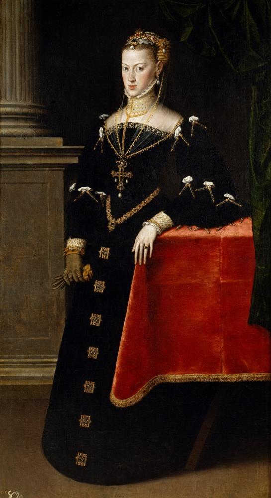 Antonio Moro. La emperatriz María de Austria, esposa de Maximiliano II. 1551. Museo del Prado. Madrid.