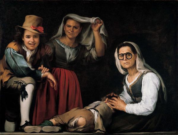 Foto Bartolomé Esteban Murillo. Cuatro figuras en un escalón. Hacia 1655-1670. Kimbell Art Museum. Fort Worth. Texas.