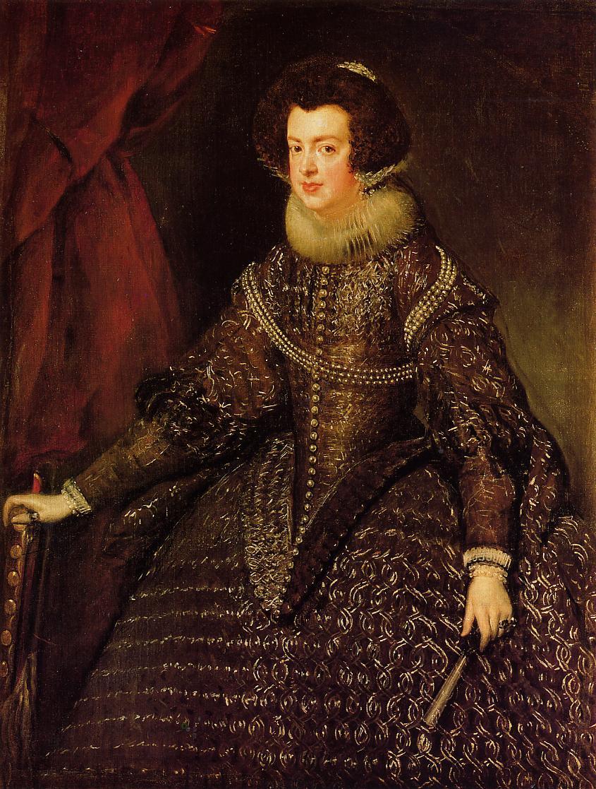 Diego Velázquez. Isabel de Borbón. 1623. Kunsthistorisches Museum. Viena.