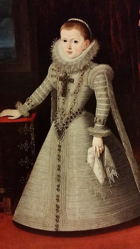 Juan Pantoja de la Cruz. Retrato de doña Ana de Austria niña. 1607.