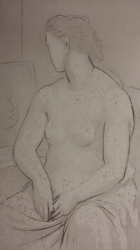 Pablo Picasso. Nu assis (Desnudo sentado). Invierno de 1922-1923.