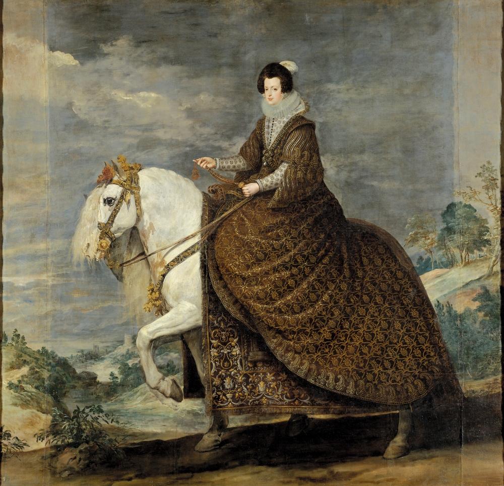 Retrato ecuestre de Isabel de Borbón. Hacia 1635. Museo Nacional del Prado. Madrid.