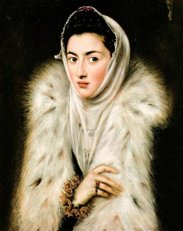 Sofonisba Anguissola. La dama del armiño. Hacia 1550 (tradicionalmente atribuia al Greco y fechada hacia 1577-1580). Pollock House. Glasgow.