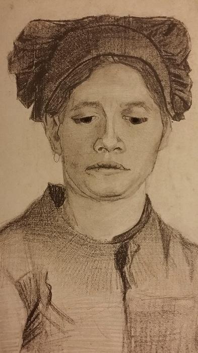 Vincent van Gogh Cabeza de una campesina. Cerca de 1884.