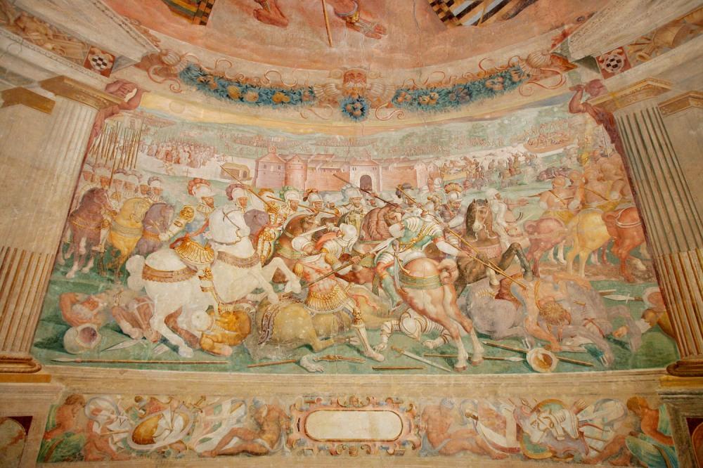 Cristóbal Passin y Miguel Ruíz de Carvajal. Batalla de Mühlberg. Castillo de Alba de Tormes. Torre del Homenaje. Alba de Tormes. Don Fernando Álvarez de Toledo  participó junto al emperador en esta batalla que tuvo lugar en 1547.