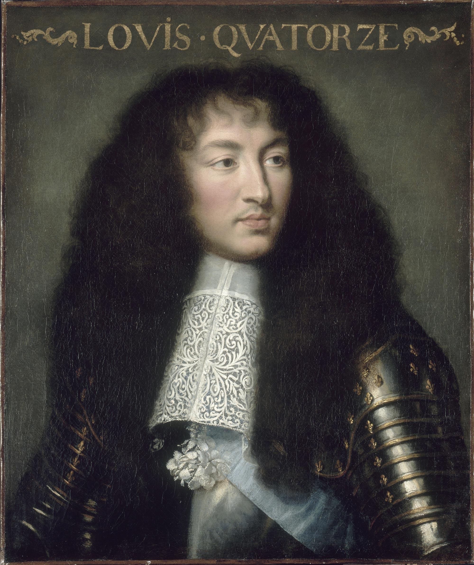 Charles Le Brun (atribución). Luis XIV de Francia. 1661-1662. Palacio de Versalles. Museo de Historia de Francia. Versalles.