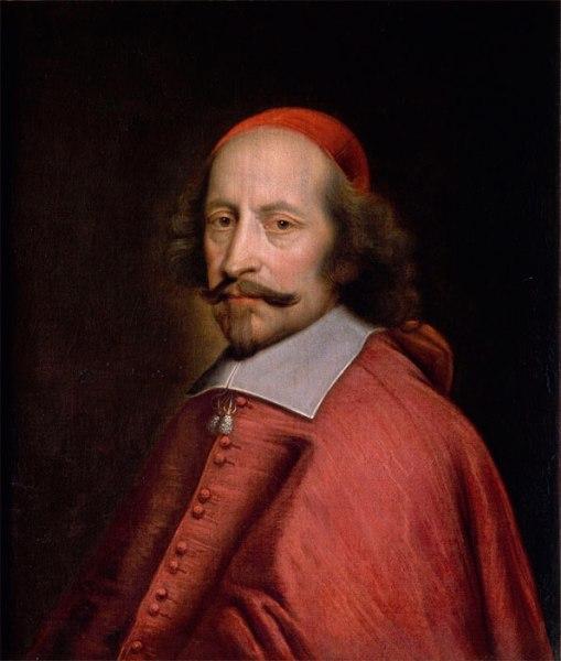 Pierre Mingard. Retrato del cardenal Mazarino. Hacia 1658-1560. Museo Condé. Chantilly.