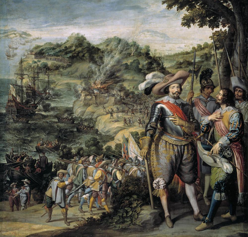 Recuperación de la Isla de San Cristóbal por Don Fadrique de Toledo, obra pintada originalmente para el Salón de Reinos, ahora en el Museo del Prado.