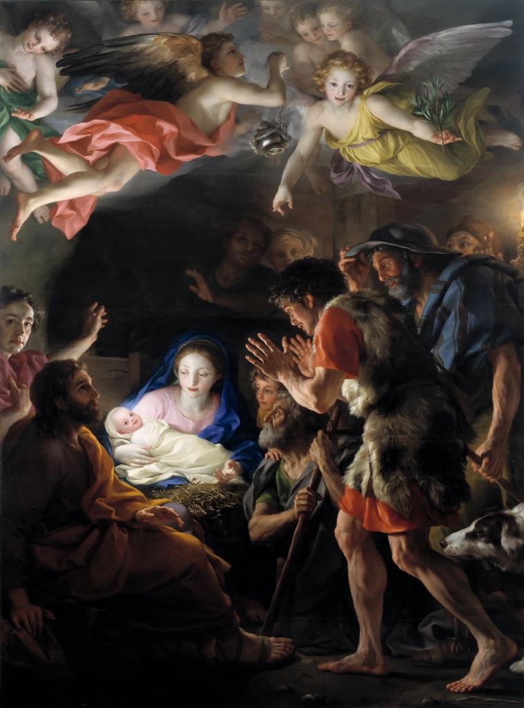 Anton Rafael Mengs. Adoración de los pastores. Hacia 1769. Museo del Prado. Madrid.