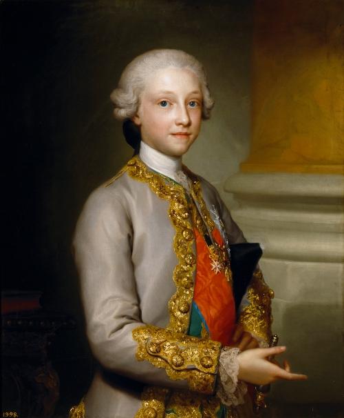 Anton Rafael Mengs. Gabriel de Borbón y Sajonia, infante de España. 1767. Museo del Prado. Madrid.