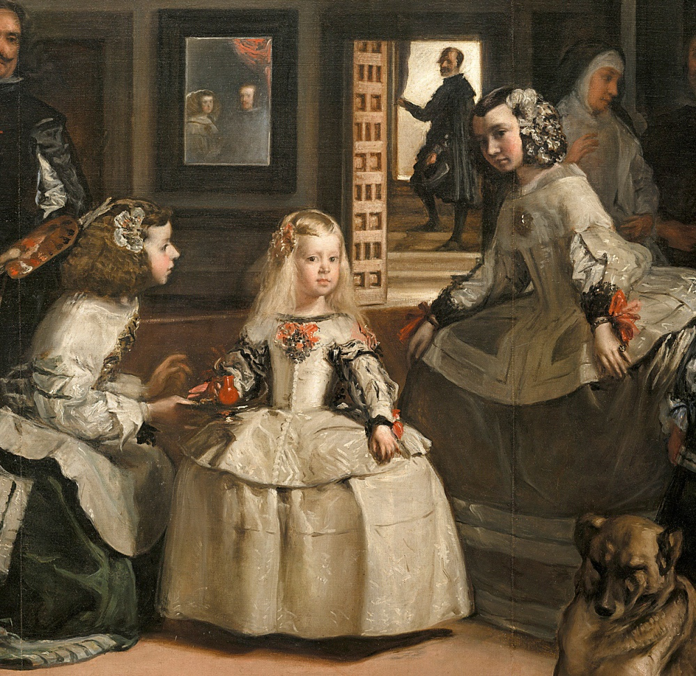 Diego Velázquez. Las Meninas o la familia de Felipe IV.  Detalle. 1656. Museo del Prado. Madrid.