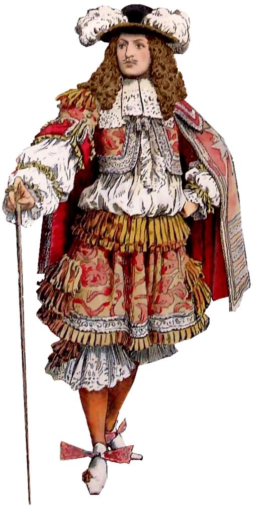 Figurín de rhingrave. 1665.
