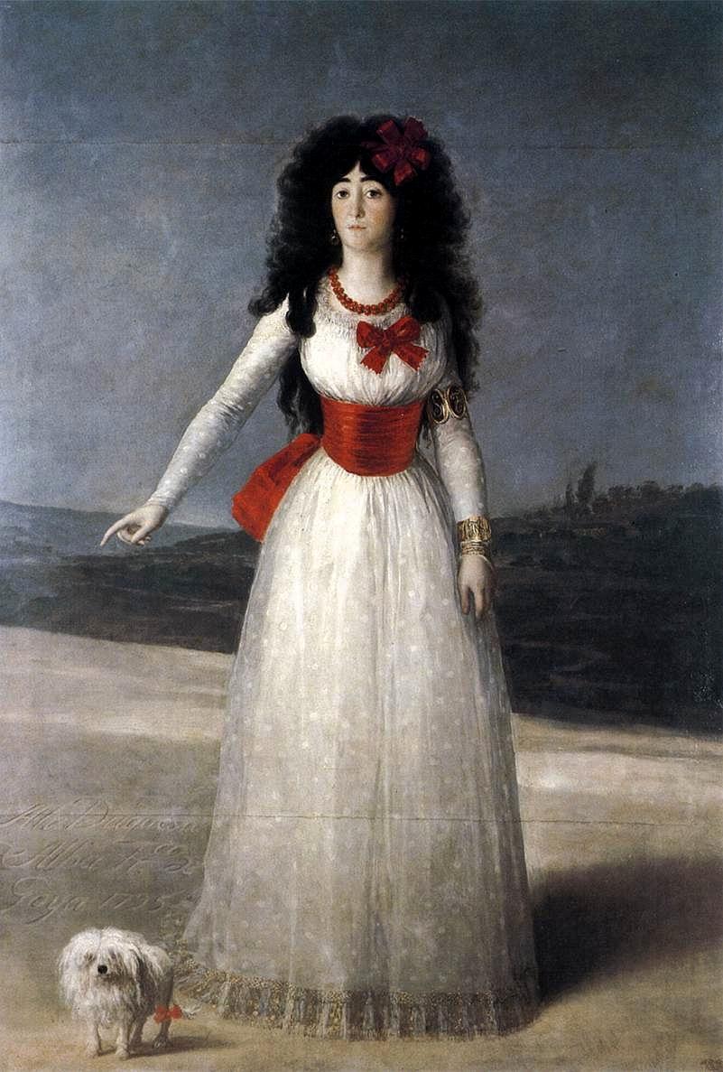 Francisco de Goya. Doña María del Pilar Teresa Cayetana de Silva Álvarez de Toledo y Silva, Duquesa de Alba. 1795. Colección Casa de Alba.