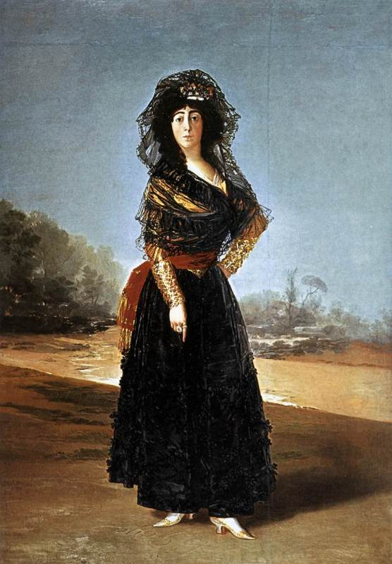 Francisco de Goya.Doña María del Pilar Teresa Cayetana de Silva Álvarez de Toledo y Silva. Duquesa de Alba. 1795. The Hispanic Society of America. Nueva York.