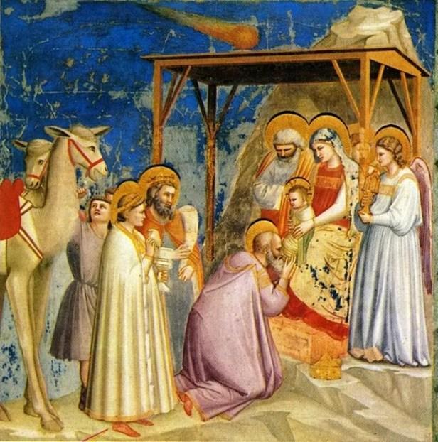 Giotto di Bondone. Adoración de los Magos. Capilla Scrovegni. Padua.