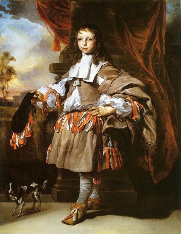Jan van Noordt. Retrato de un niño. 1665. Museo de Bellas Artes. Lyon.
