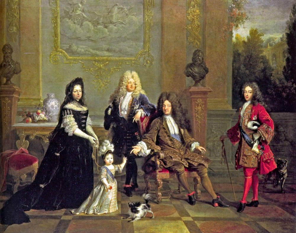 Nicolas de Largilliere. Luis XIV y su familia. 1710. Wallace Collection. Londres.