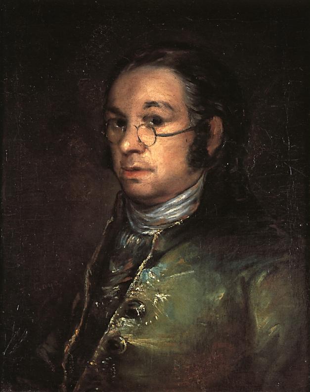 Francisco de Goya. Autorretrato con gafas. Hacia 1801. Museo Bonnat. Bayona. Francia.