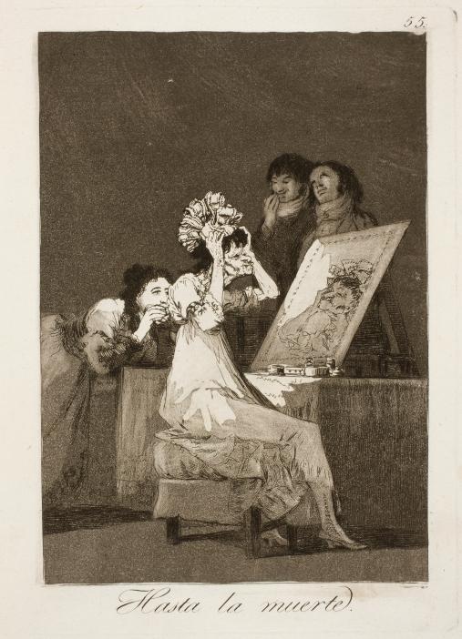Francisco de Goya. Hasta la muerte. Caprichos (estampa), 55. 1797-1799. Museo Nacional del Prado. Madrid.