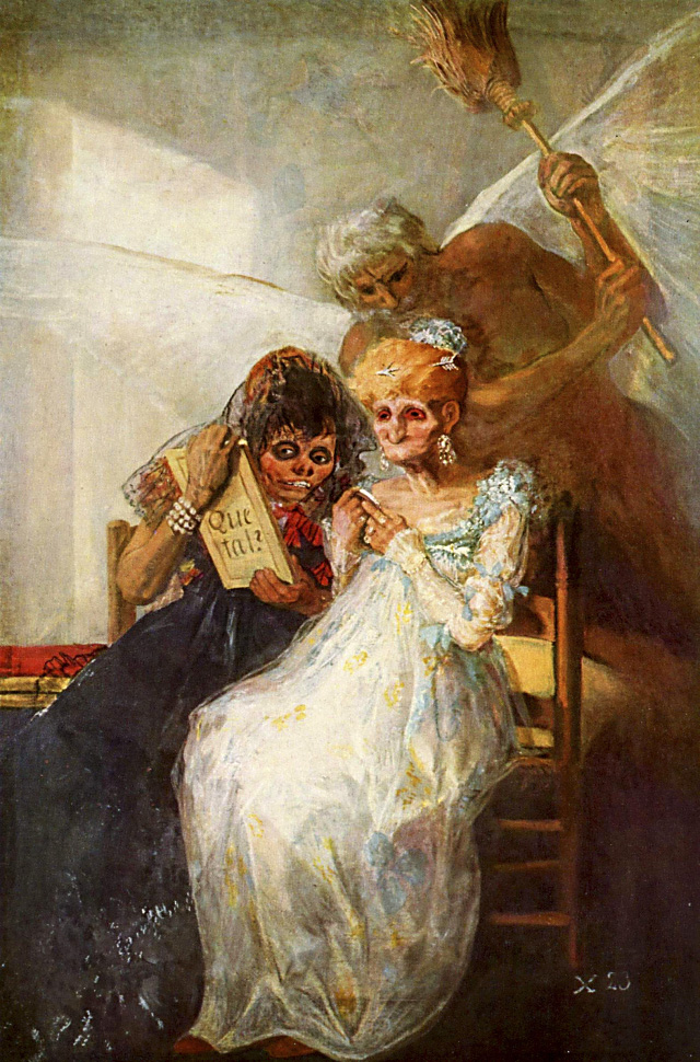 Francisco de Goya. Las viejas o El tiempo.1810-1812. Palacio de Bellas Artes de Lille. Francia.
