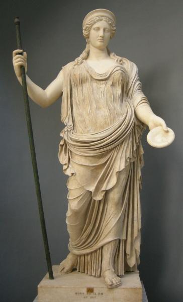 Hera. Copia romana de un original griego de la escuela de Fidias. Museos Vaticanos.