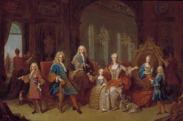 Jean Ranc. La familia de Felipe V. 1723. Museo Nacional del Prado. Madrid.