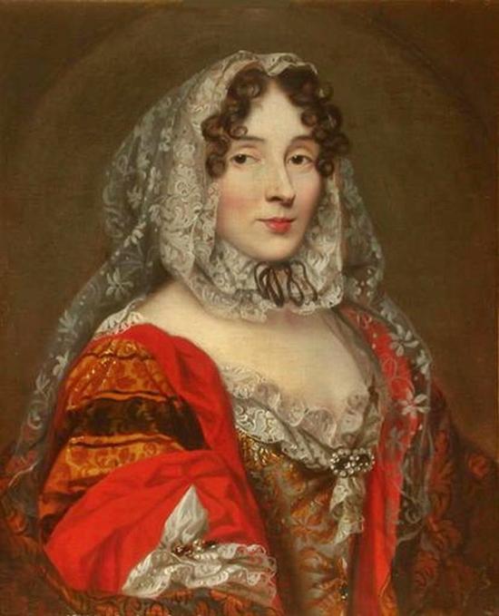 René-Antoine Houasse (Atribuido a). Marie Anne de La Trémoille, princesa de los Ursinos. Hacia 1670. Museo Condé. La princesa de los Ursinos fue Camarera Mayor de María Luisa Gabriela de Saboya, primera mujer de Felipe V.